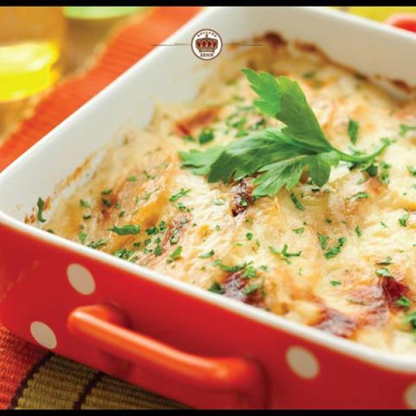 Bacalhau A Brasileira com o delicioso Queijo Kroon Gouda